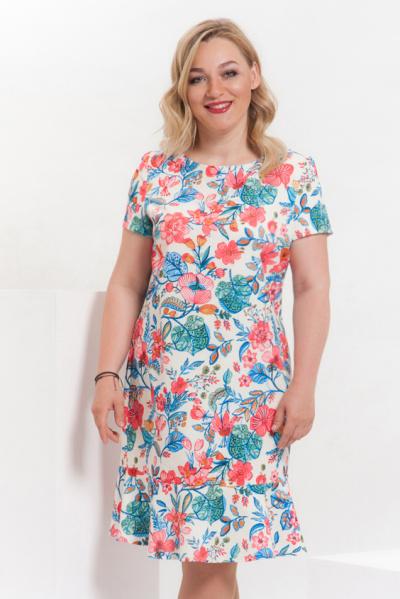 Платье с цветочным принтом П-416/1
